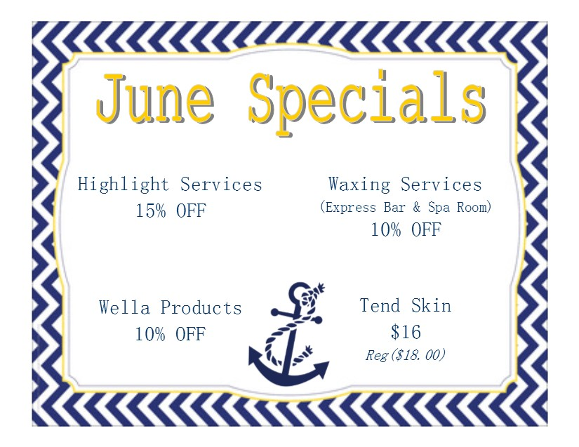 June Specials 2016 | Capri Cosmetology Learning Centers
