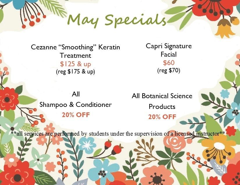 Capri Specials May 2019