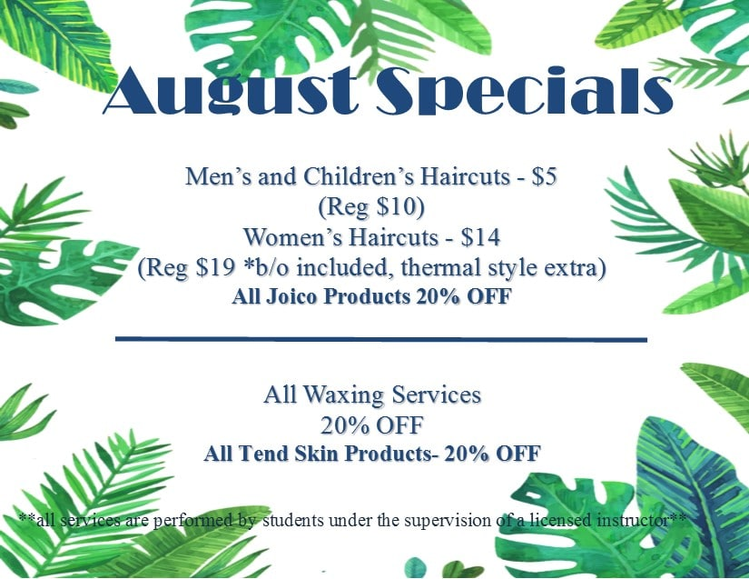 Monthly Specials And Events | Capri Cosmetology Learning Centers