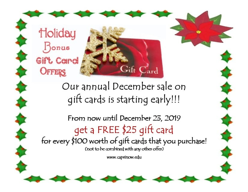2019 Gift Cards